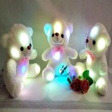 Детские игрушки, куклы, светящийся плюшевый медведь, детские игрушки 22 см, Белый мишка, плюшевый мишка, игрушки для детей на день рождения, рождественский подарок