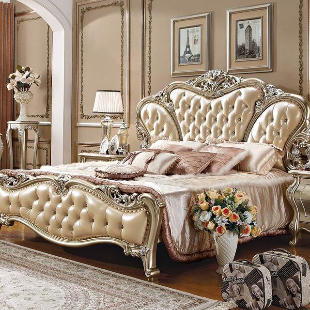 роскошный королевский классическая стиль мебель кровать спальня