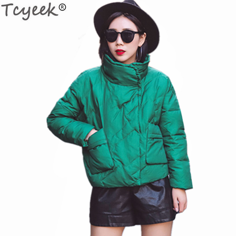Tcyeek Jacket Women 2019 White Duck Down Jackets Short Thin Coat Casual Coats Ladies Autumn Tops Clothes Chaqueta Mujer LWL749