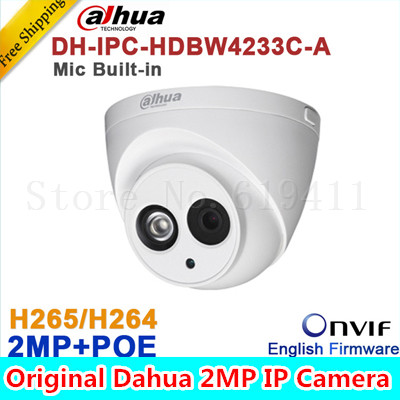 Wholesale Dahua DH-IPC-HDW4233C-A 2MP Dome Network IP Camera Built-in Mic Small IR HD WDR POE H.265/H.264 IPC-HDW4233C-A in stock dahua ipc k200wn 2mp ip66 hd cube network camera