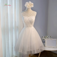 Dream Angel Elegant Lace Knee Length Homecoming Dresses 2018 Appliques  Beading Pearls Short Special Occasion Dress For Party 15b6e304b8d0