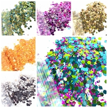 1Bag 10G Mixed Nail Glitter 1MM + 0.2MM Hexagon Nail Sequins Shining Nail Glitter Sequins for UV Gel Nail Art Decoration MA-06# four angle stars shape nail glitter sequins for nail art decoration makeup facepainting nail gel manual diy crafts decoration