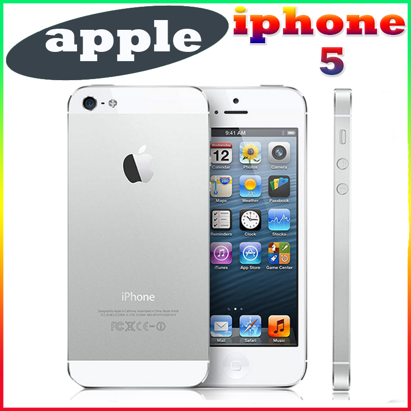 Original desbloqueado apple iphone 5 teléfono móvil de 4.0 pulgadas de doble núc