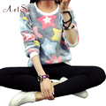 ArtSu New 2017 Women Spring Autumn Long Sleeve Casual Sweatshirts Women Cute Print Hoodies Moleton Feminine Oversize EPHO80045