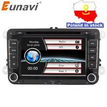 Eunavi 7 »2 din мультимедийный плеер Автомобильная dvd-навигационная система для VW Volkswagen GOLF 6 поло новый Бора JETTA PASSAT B6 SKODA Радио RDS