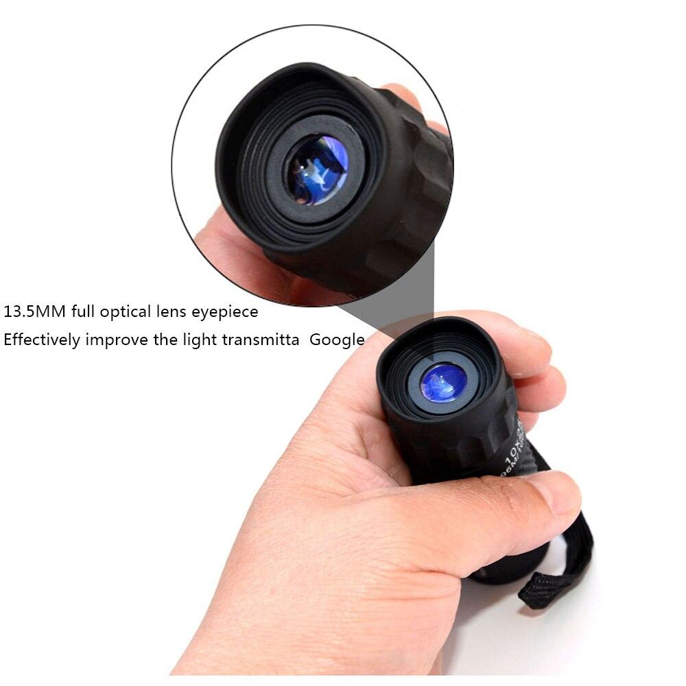 Professional Telescope Monocular Spyglass Hunting 10x25 Portable Mini HD for High-Quality