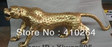 ] Shipping Exquisite 26″ Chinese Feng shui Feline animal Brass leopard panther Statue Sculpture discount 30%
