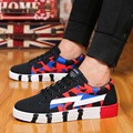 Low Top Lace Up New Men Canvas Shoes Spring Summer Casual Outdoor Walking Flats For Men's Breathable Printed Flat Heel Shoes