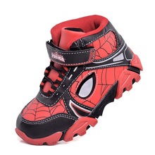 red Spider-Man Casual Shoes Spring summer lights flash LED b
