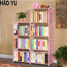 2016 New Creative DIY 3 layers Bookcase portfolio brief modern bookshelf shelf whatnot cabinet thickening Freeshipping