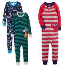 Весенне-летние пижамы для мальчиков; хлопковые комбинезоны для девочек; комбинезон; детская одежда на молнии; домашняя одежда