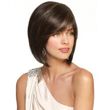 """14""""Cheap Synthetic Short Straight Hair Wigs Heat Resistant Realistic Wig Female Cheap Bob Hairstyle Fake Hair peruca"""