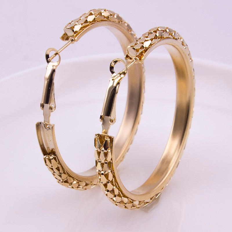 HTB1rlT9OFXXXXanXVXXq6xXFXXXp - Simple Fashion Style 5CM Big Hoop Earrings Jewellery for Women Metal Alloy Vintage Round Earring