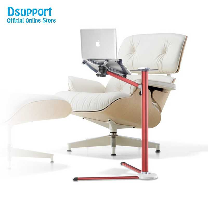 360 Degree Rotation UP-7 Height Adjustable Laptop Floor Stand With Mouse Tray Aluminum Alloy Ergonomics Laptop Desk Holder
