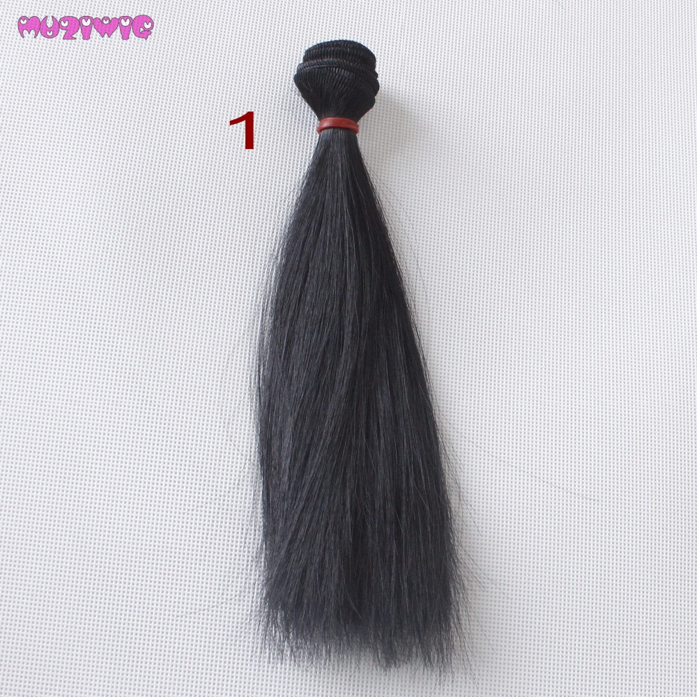 Dolls & Stuffed Toys Toys & Hobbies Muziwig 1 Piece 20cm Synthetic Natural Color Hair Wefts For Bjd/blyth/america Doll