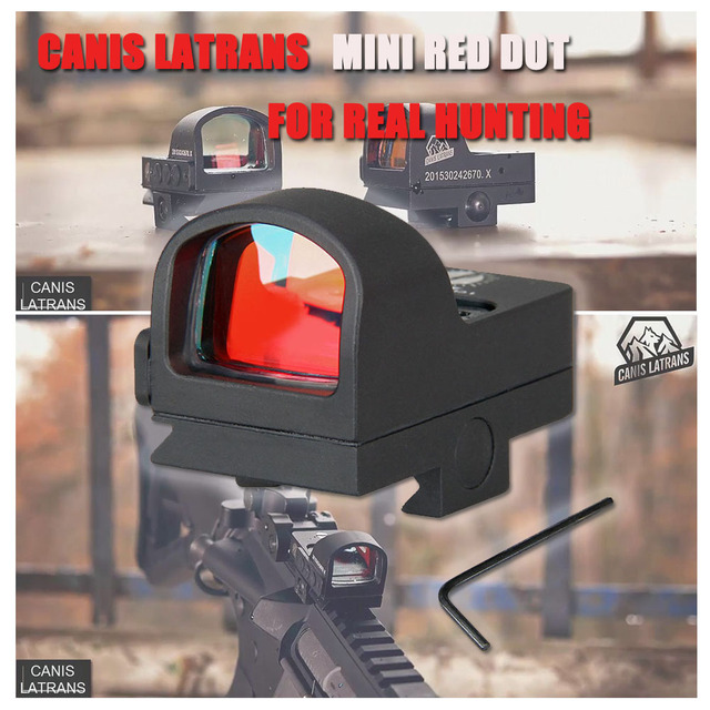 Canis Latrans Tactical Red Dot Scope 2MOA 20MM Waterproof Mini Red Dot Sight For Real Hunting Shooting HS2-0078