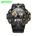 Men's Sport Quartz Watch Clock SANDA Brand Male Alarm Chronograph Military Led Digital Wristwatch for Boy Reloj Hombre