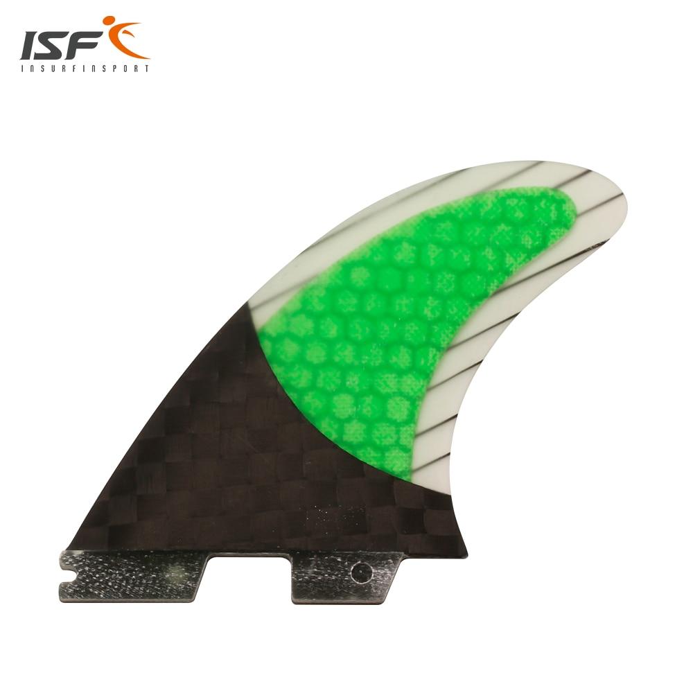 Nouveau palmes en fibre de carbone en nid d'abeille fcs ii palmes de surf vertes quilhas fcs ensemble d'ailerons de surf pranchas de surf fcs 2 ailerons G7