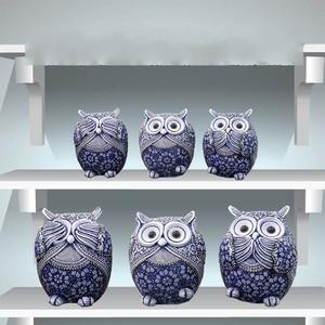 Image 4 - Coruja estatuetas decoração mini animais ornamentos para casa acessórios de decoração de escritório artesanato decoração de arte 3pc presentes de casamento