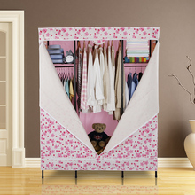 Full steel oversized metal wardrobe simple cloth combination of durable oxford cover cabinet racks