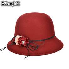 Womens Hat New Style Autumn And Winter Fashion Retro England Warm Sun Noble Elegant Flower Decoration Adult Female Hats