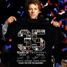 35 Years Of Bon Jovi Thank you for the memories - 35th Anniversary T Shirt Sleeves Boy Cotton Men T-Shirt top tee