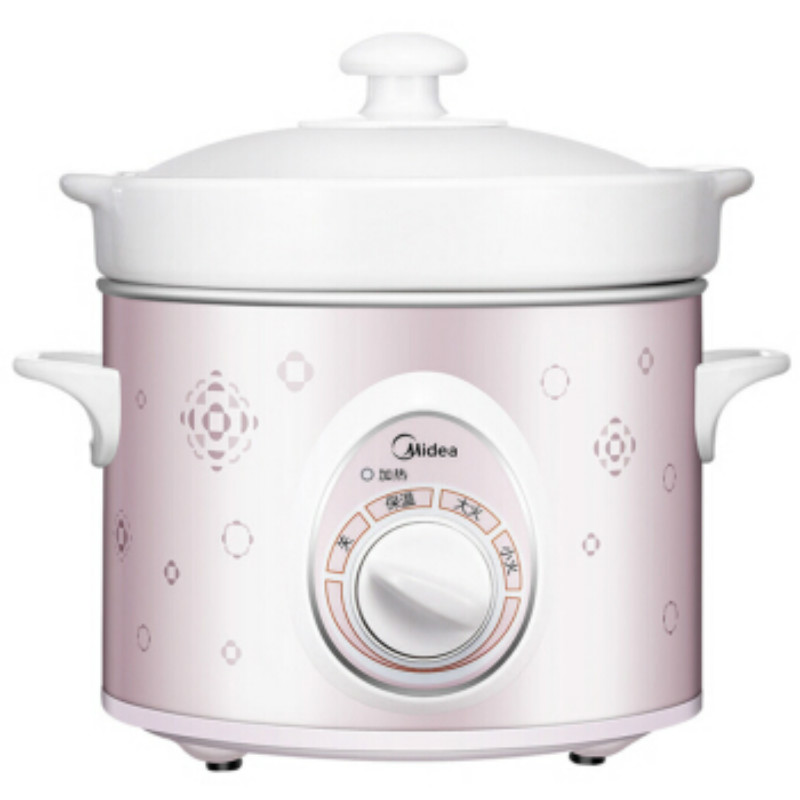 1.8L 220V Midea Electric Cooker Stew Soup Pot  White Porcelain WBGH181 mini electric pressure cooker intelligent timing pressure cooker reservation rice cooker travel stew pot 2l 110v 220v eu us plug