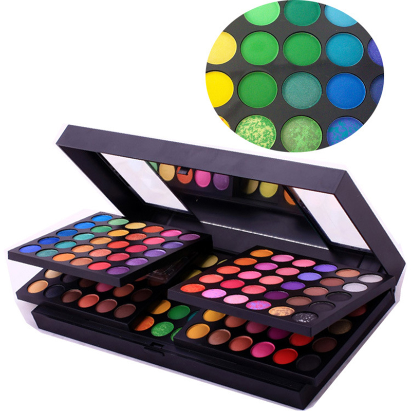 New 180 Colors Fashion Professional Makeup Eye Shadow Combination Charming Shimmer Matte Eyeshadow Palette Beauty Cosmetics Set free shipping hot sale 252 colors eye shadow makeup party cosmetic shimmer matte eyeshadow palette set fit for women