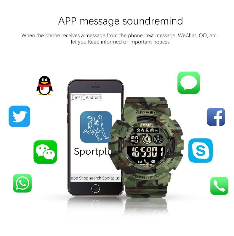 Militar digital men relógios smael nova moda