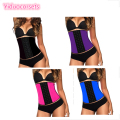 Hot 3 Hooks Body Shaper Underbust 9 Steel Bones Waist Cincher Corset Latex Waist  Trainer Girdles Shaperwear