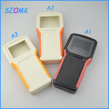 10pcs/lot  new instrument plastic handheld case with battery box for pcb broad with pvc