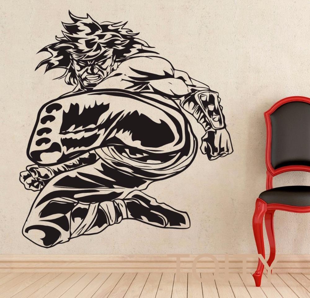 liu kang mortal kombat juego de etiqueta de la pared del arte del vinilo decal diseo