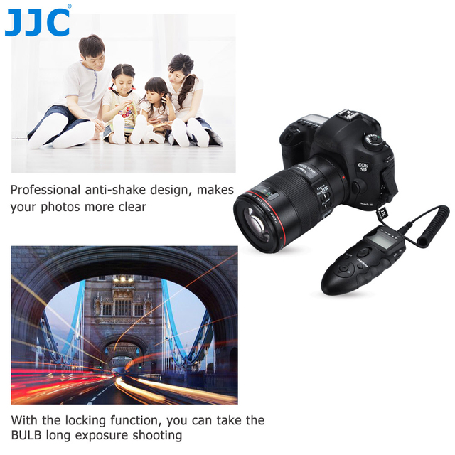 JJC DSLR Camera Remoto Infravermelho Multi-Exposição Interruptor Do Temporizador para Panasonic DMC GH5 GH4 FZ20 FZ100 Leica V-LUX2 Substituir DMW-RSL1