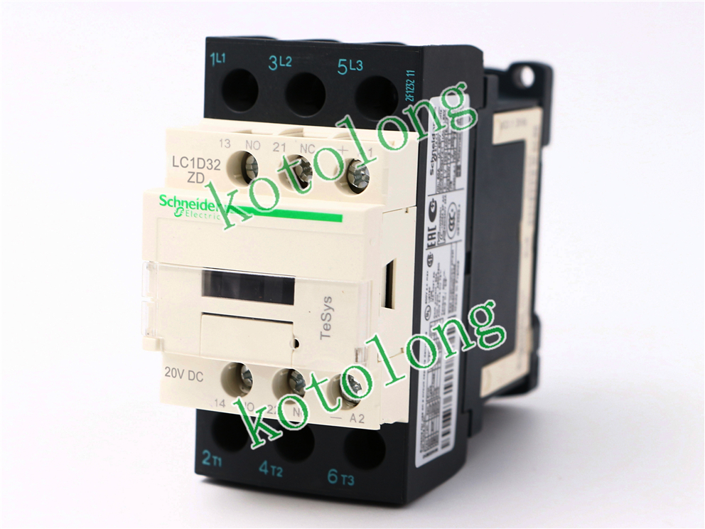 DC Contactor LC1D32 LC1-D32 LC1D32ZD LC1-D32ZD 20VDC lc1d series contactor lc1d09 lc1d09kd 100v lc1d09ld 200v lc1d09md 220v lc1d09nd 60v lc1d09pd 155v lc1d09qd 174v lc1d09zd 20v dc