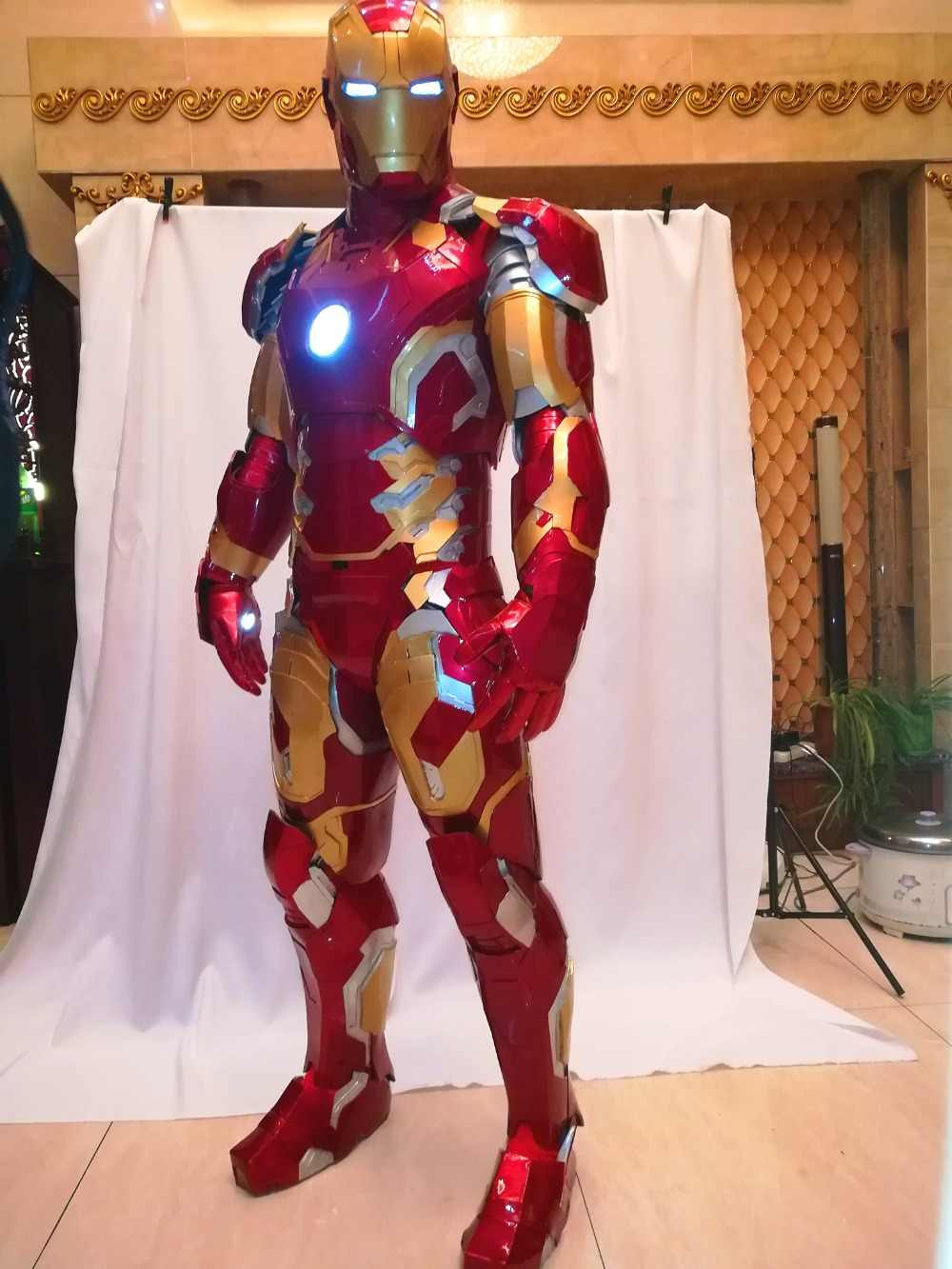 Homem de ferro mk43 terno homem de ferro cosplay traje wearable feito para medir e filme armadura homem de ferro preciso