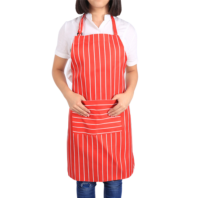 Superieur Kitchen Aprons With Pockets Comfortable Womenu0027s Apron Oil Proof Housewife Cooking  Kitchen Chef Waitress Waist Aprons