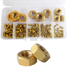 Brass Hex Metric Nuts Metal Threaded Hexagonal Copper Nut Set Assortment Kit M2 M3 M4 M5 M6 M8 M10 M12 M14
