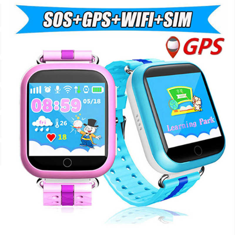 2019 New Kids Smart Watch SOS Emergency Call Baby Smartphone LBS GPS Tracker Positioning Anti Lost Childrens Smartwatch +Box