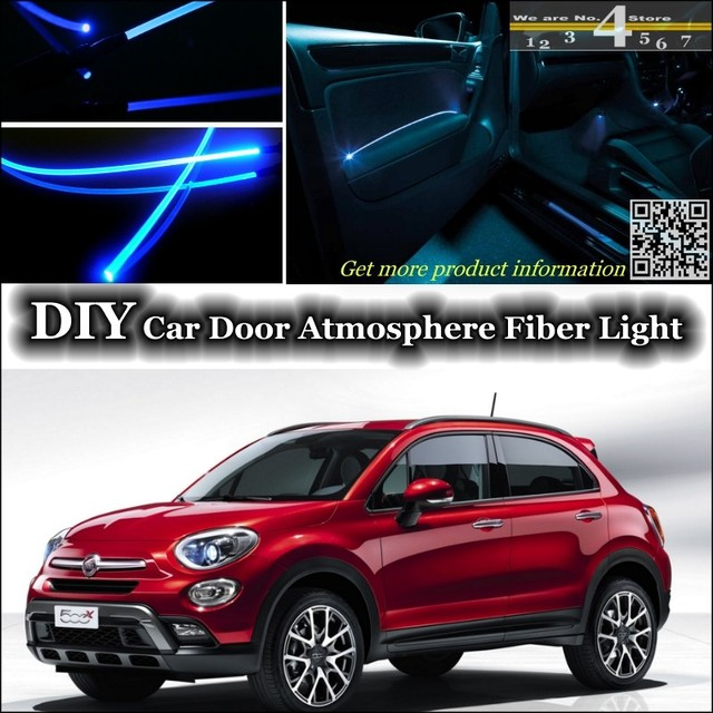 per fiat 500x interni luce ambientale tuning atmosfera in. Black Bedroom Furniture Sets. Home Design Ideas