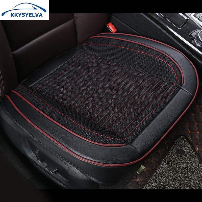 KKYSYELVA 1pcs Automobiles Interior Accessories Summer Driver <font><b>Seat</b></font> Cushion Car Chair Pad Universal Car <font><b>seat</b></font> <font><b>covers</b></font>