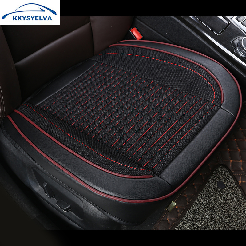 KKYSYELVA 1pcs Automobiles Interior Accessories Summer Driver Seat Cushion Car Chair Pad Universal seat covers