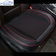 KKYSYELVA 1pcs Automobiles Interior Accessories Summer Driver Seat Cushion Car Chair Pad Universal Car seat covers universal car seat cover fiber linen front cushion 3d car styling seat covers automobiles for toyota for hyundai 1pcs 3 colored