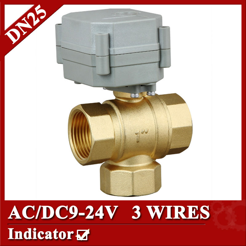 9-24V 3 wires electric ball valve 3 way T type for HVAC,solar water,air conditional fan coil water softeners water treatment 1 dc12v 2 wires 3 way electric valve t type 2 wires manual override available for water heating hvac air conditional