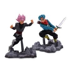 2 pcs/lot Anime Dragon Ball Z Super Son Goku Black Zamasu Trunks PVC Action Figure Soul X Doll Model Toy Christmas Gift