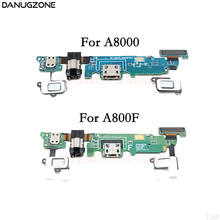 цена на USB Charge Dock Jack Connector Charging Port Flex Cable + Headphone Audio Jack For Samsung Galaxy A8 A800F A8000 SM-A800F/A8000