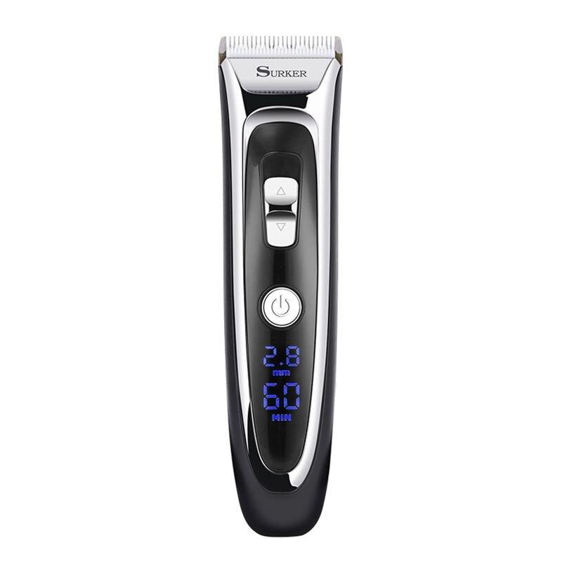 Offre spéciale SURKER modèle RFC-688B électrique feuille tondeuse à cheveux pour hommes avec Station de nettoyage et de Charge, électrique hommes femmes cheveux Cli
