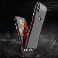 Aluminum Metal Case For Apple IPhone X Case Bumper With PC Cover Frame Shell Armor For