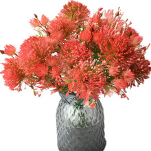Одна искусственная Гвоздика 10 головок Одуванчик пластик тараксакум Хризантема шар растение для свадьбы домашний стол украшение цветов