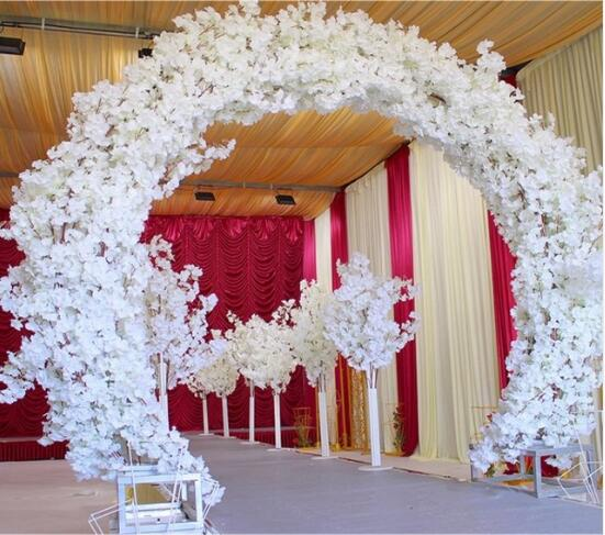 New Wedding Props Truss Arch Bracket Background Decorative Sakura Of The Opposite Sex Iron Gate Frame Geometry Arch.