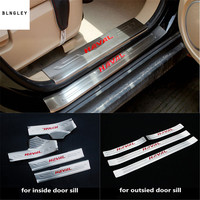 Free shipping 4pcs/lot for 2012 2018 Great Wall HAVAL H2 stainless steel scuff plate door sill pedal car accessories car sticker